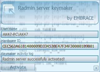 licence key for radmin server 3.5